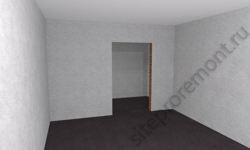Пустая комната с проемом
