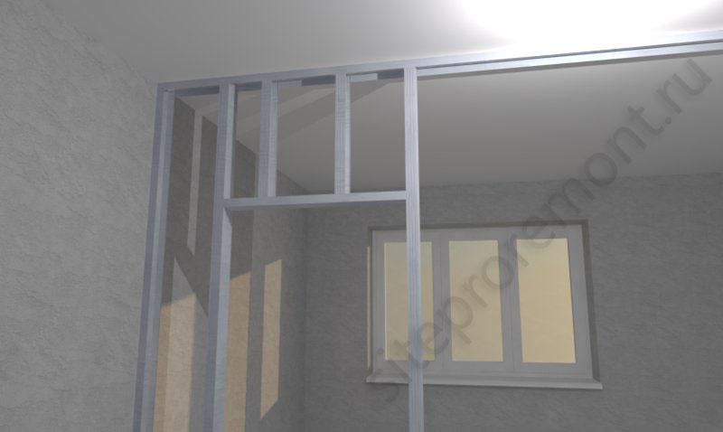Стена из гипсокартона с дверным проемом