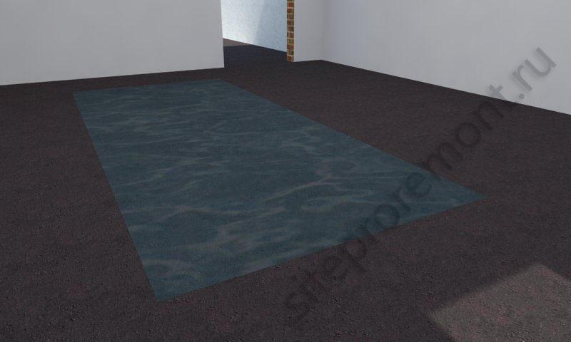 Полиэтиленовая пленка на полу