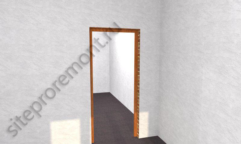 Дверной проем с коробкой