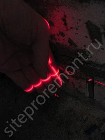 Установка самрезов по лазерному уровню
