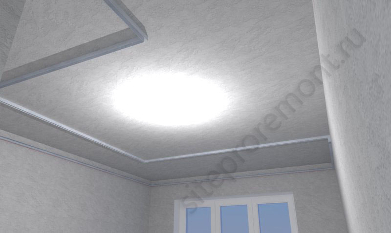 Монтаж ПН на потолок кухни
