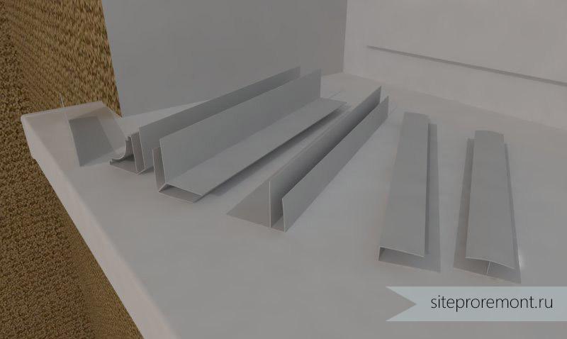 Как прикрепить на натяжной потолок плинтус