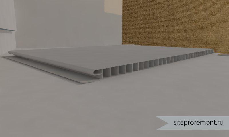 как делать потолок из пвх панелей