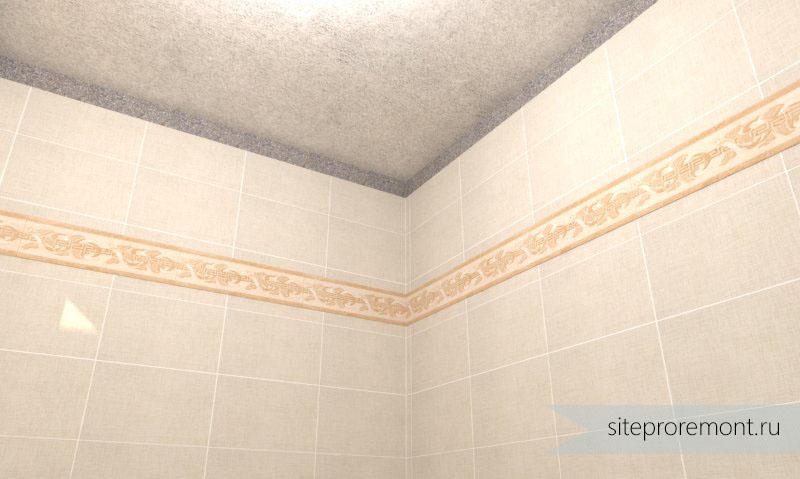 гипсокортон потолок к плитке