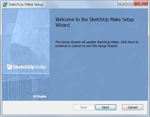 Окно установщика программы для 3D моделирования