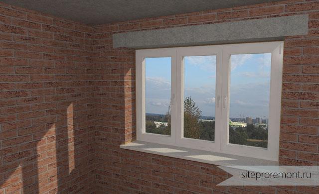 Модель комнаты с окном