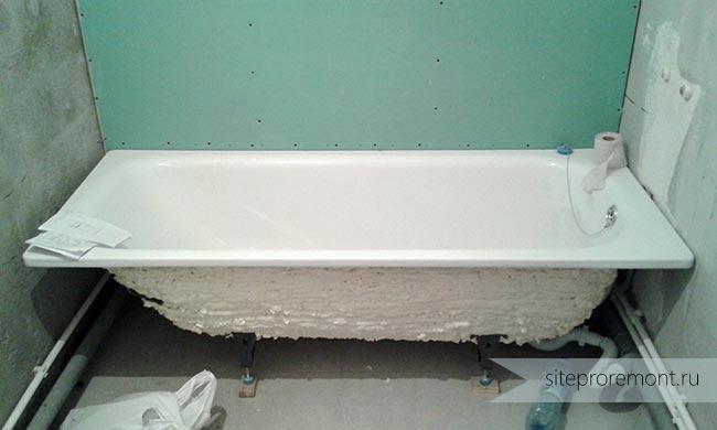 Запененная ванна