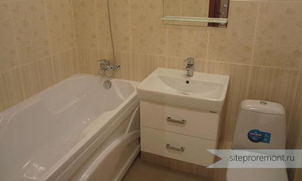 акриловая ванна с экраном