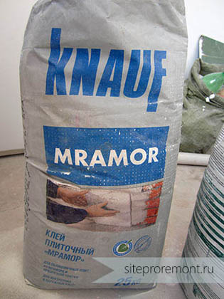 Клей для камня Knauf Mramor