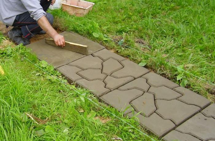 Отливка заготовок для тротуарной плитки