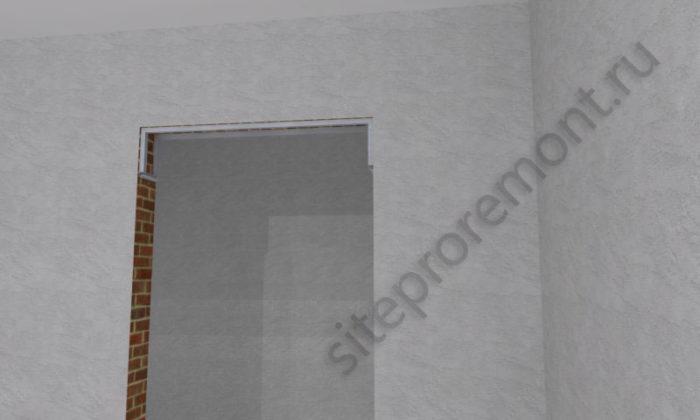 Оформленный дверной проём