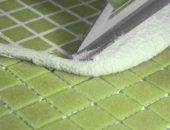 затирка зеленой мозаики