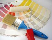кисть и валик для краски