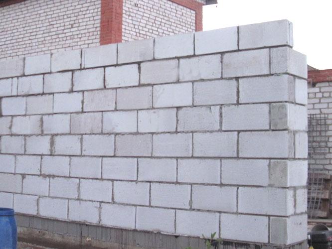 Конструкция стен из пеноблоков
