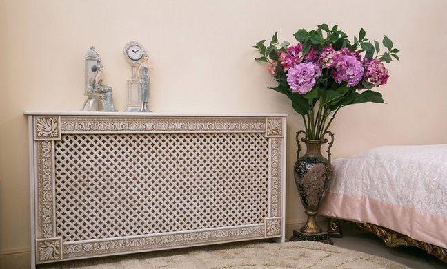 Маскировка радиаторов отопления с помощью декоративной панели